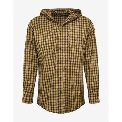 バレンシアガ Balenciaga メンズ シャツ トップス Yellow Logo Hooded Shirt Yellow