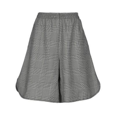 MM6 メゾン マルジェラ MM6 MAISON MARGIELA ひざ丈スカート ブラック 40 バージンウール 50% / ポリエステル 50%