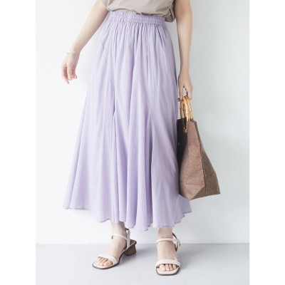 グリーンパークス Green Parks Iコットンボイルスカート (Purple)