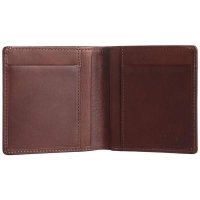 スィンリー THINly 財布 メンズ 二つ折り 薄型 日本製 EWSLBS02 CH (チョコ)