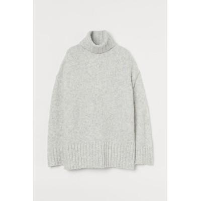 H&M - タートルネックセーター - グレー
