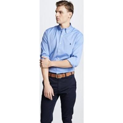 (取寄)ポロ ラルフローレン スリム ストレッチ ポプリン シャツ Polo Ralph Lauren Slim Stretch Poplin Shirt BlueEndonEnd