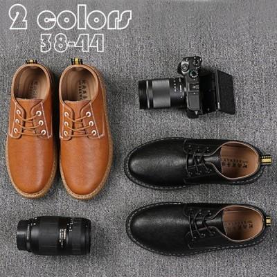 ビジネスシューズ メンズ 靴 ショートブーツ ワークブーツ スニーカー 靴 おしゃれ 紳士靴 復古 英国風 ビジネスシューズ 秋冬  無地