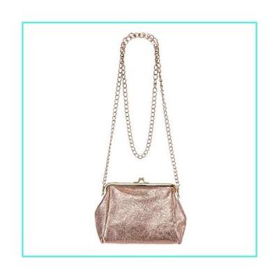 【新品】Oyachic Top Handle Handbag PU Purse Kiss Lock Crossbody Shoulder Bag(並行輸入品)