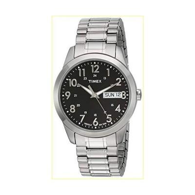 【並行輸入品】Timex Men's T2M932 South Street Sport Black/Silver-Tone Stainless Steel Expansion Band Watch