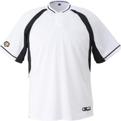 DB103B-SWBK 2ボタンベースボールシャツ DESCENTE メンズ 半袖 野球 Tシャツ (DES)(QCB02)