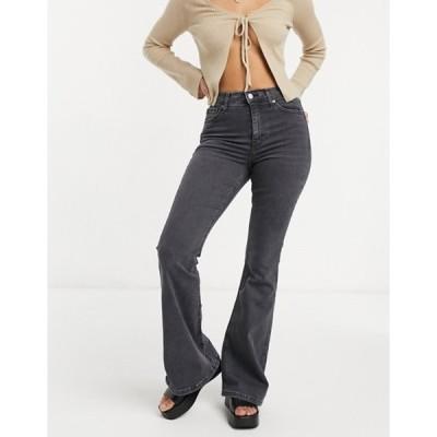 トップショップ レディース デニムパンツ ボトムス Topshop Jamie flared jeans in washed black