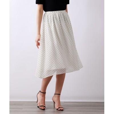 スカート モノトーンドットスカート