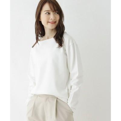 tシャツ Tシャツ 【洗える・42(LL)WEB限定サイズ】SUPIMA(R)度詰裾スナッププルオーバー