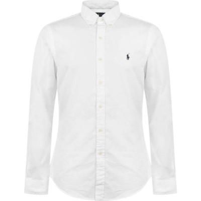 ラルフ ローレン Polo Ralph Lauren メンズ シャツ スリム ワイシャツ トップス Slim Fit Garment Dyed Oxford Shirt White
