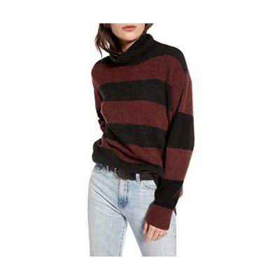 TREASURE & BOND Women's Wide Stripe Tunic Sweater - Size X-Small | Burgundy