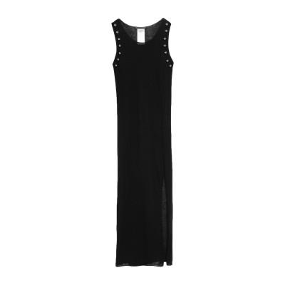 REBEL QUEEN by LIU •JO ロングワンピース&ドレス ブラック 46 レーヨン 45% / 麻 30% / コットン 25% ロン