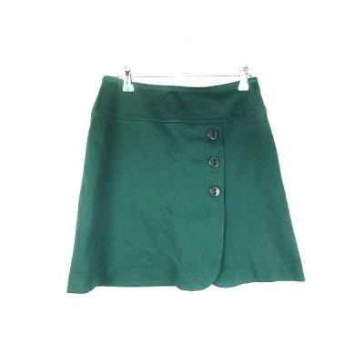 【中古】クローラ crolla スカート 台形 ミニ 無地 38 緑 グリーン /CK レディース 【ベクトル 古着】