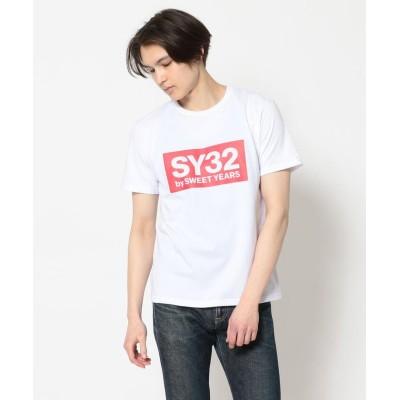 【ロイヤルフラッシュ】 SY32 by SWEETYEARS /エスワイサーティトゥバイ スィートイヤーズ/COLOR BOX LOGO TEE メンズ レッド XL RoyalFlash