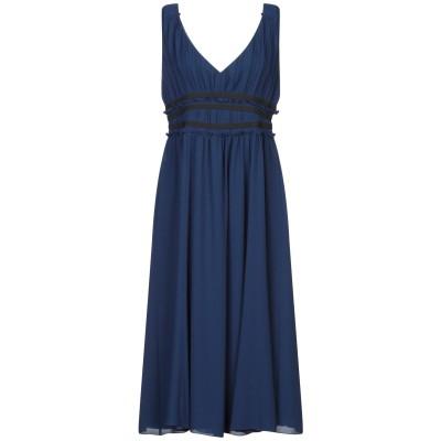 SEVENTY SERGIO TEGON 7分丈ワンピース・ドレス ダークブルー 38 ポリエステル 100% 7分丈ワンピース・ドレス