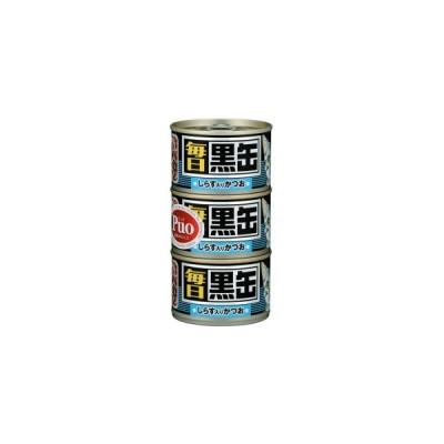 毎日 黒缶 しらす入りかつお 160g×3P