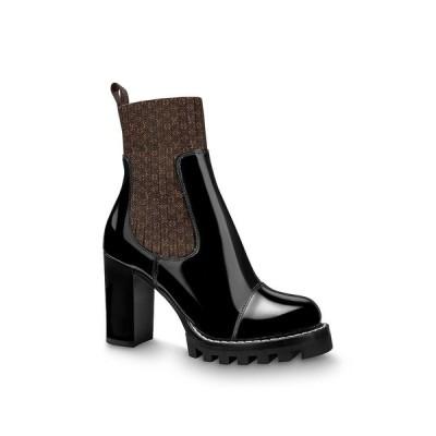 ルイヴィトン LOUIS VUITTON ショートブーツ ブーツ シューズ 靴 アンクルブーツ モノグラム ブラウン ブラック