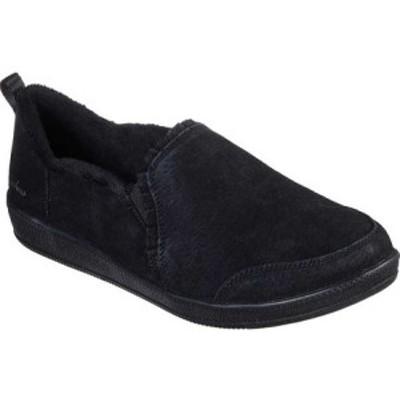 スケッチャーズ Skechers レディース スリッポン・フラット シューズ・靴 Madison Ave Plushed Slip On Black/Black