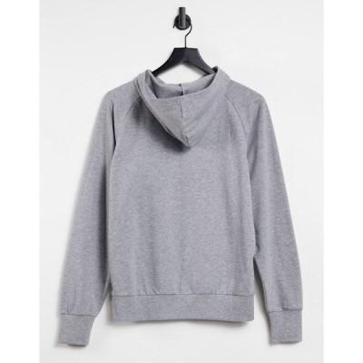 エイソス レディース パーカー・スウェットシャツ アウター ASOS DESIGN ultimate hoodie in gray marl Gray heather