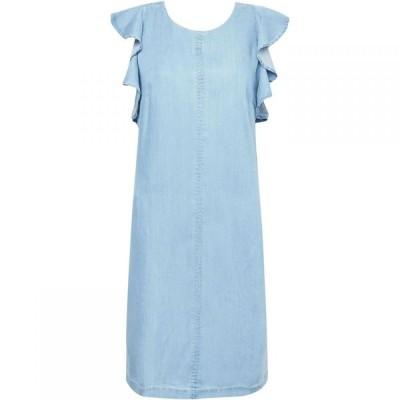 グレート プレインス Great Plains レディース ワンピース ワンピース・ドレス Chambray Frill Cross Back Dress Washed Blue