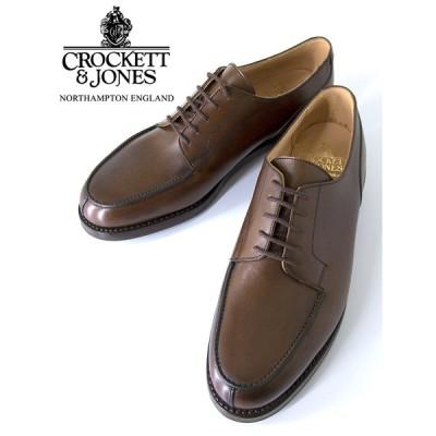 Crockett&Jones/クロケット&ジョーンズ/Uチップシューズ/MORETON/モールトン/Ridgeway sole/ダークブラウン/cro420601