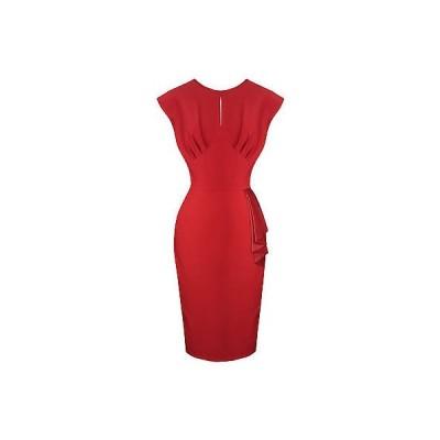 ヘルバニー ドレス ワンピース Hell Bunny Bernadette レッド 50s Sarong スタイル ピンナップ Pencil ドレス UK