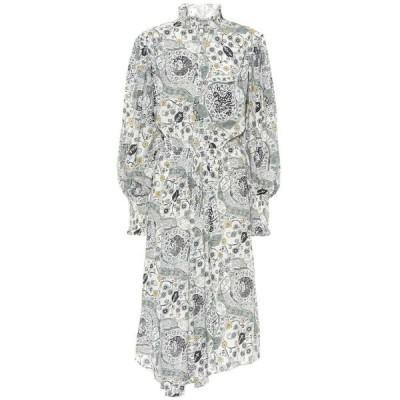 イザベル マラン Isabel Marant, Etoile レディース ワンピース ミドル丈 ワンピース・ドレス cescott printed midi dress Ecru/Almond