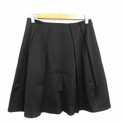 【中古】カエン kaene スカート ギャザー ミニ タック 2 黒 ブラック /AAM31 レディース