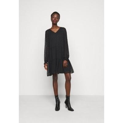 ピーシーズ トール レディース ワンピース トップス PCNUTSI DRESS - Day dress - black black