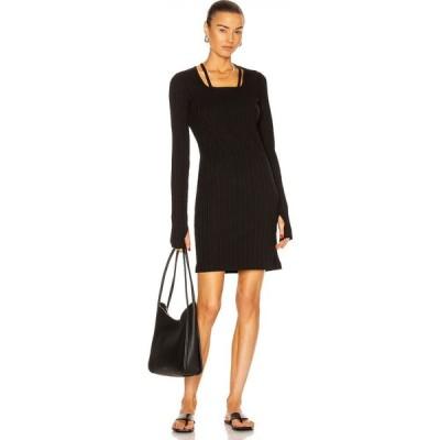 ヘルムート ラング Helmut Lang レディース ワンピース ワンピース・ドレス Finest Rib Dress Black