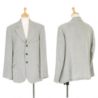ワイズY's 混紡デザイン織り3Bジャケット グレーM位 【レディース】