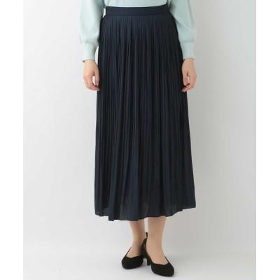OFUON / メモリーサテンプリーツスカート WOMEN スカート > スカート