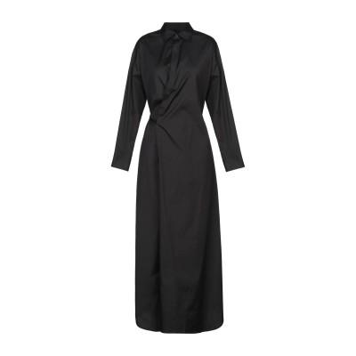 ディースクエアード DSQUARED2 ロングワンピース&ドレス ブラック 44 コットン 97% / ポリウレタン 3% ロングワンピース&ドレス