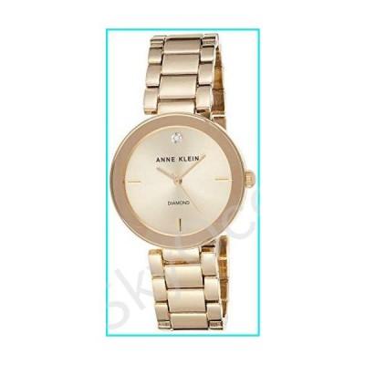 Anne Klein Women's AK/1362CHGB Diamond Dial Gold-Tone Bracelet Watch【並行輸入品】