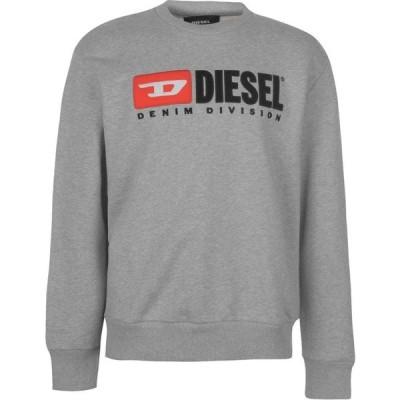ディーゼル Diesel メンズ スウェット・トレーナー トップス Division Crew Sweatshirt Grey