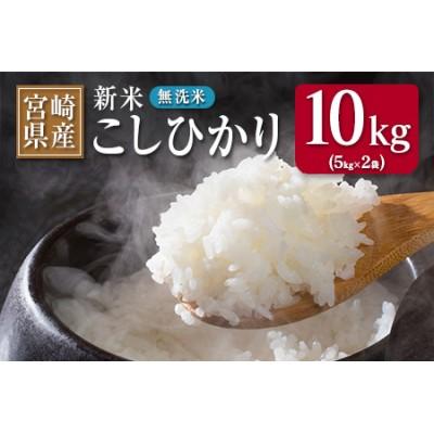 AB116 《期間・数量限定》新米・無洗米『宮崎県産こしひかり』計10kg