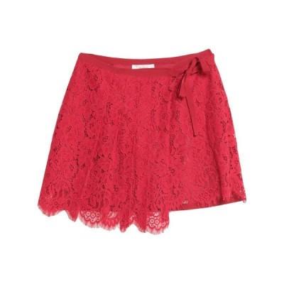 JUCCA ミニスカート  レディースファッション  ボトムス  スカート  ロング、マキシ丈スカート レッド