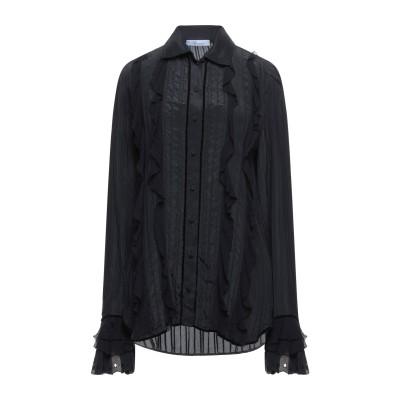 ブルマリン BLUMARINE シャツ ブラック 40 シルク 100% シャツ