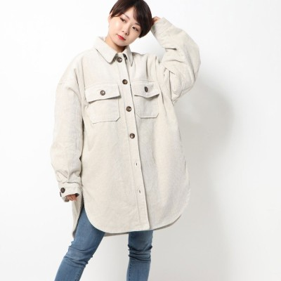 スタイルブロック STYLEBLOCK コーデュロイ裏ボアCPOシャツジャケット (アイボリー)