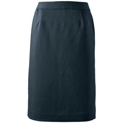 スーツ用タイトスカート(事務服・洗濯機OK)/ストライプA(総丈54cm)/61-89