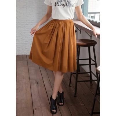 スカート 【Made in JAPAN】コットンギャザーフレアスカート
