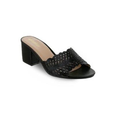 オリビアミラー レディース パンプス シューズ Lauderhill Laser Cut Mule Sandals Black