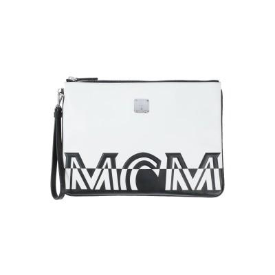 エムシーエム MCM ハンドバッグ ホワイト 革 ハンドバッグ