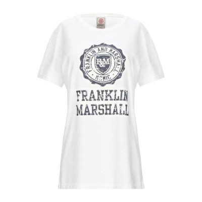 フランクリン & マーシャル FRANKLIN & MARSHALL T シャツ アイボリー XS コットン 50% / ポリエステル 50% T