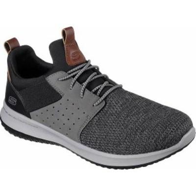 スケッチャーズ メンズ スニーカー シューズ Men's Skechers Delson Camben Slip On Sneaker Black/Gray
