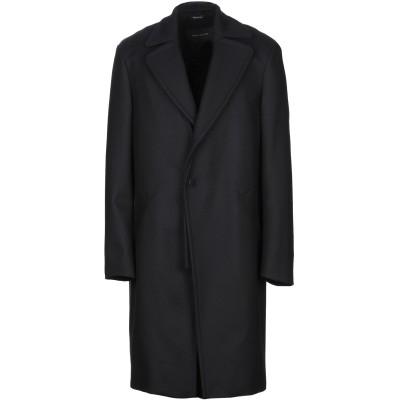 セドリック シャルリエ CEDRIC CHARLIER コート ダークブルー 52 バージンウール 80% / ナイロン 20% コート