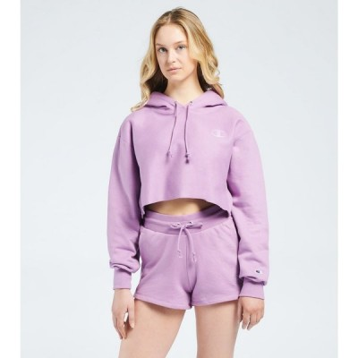 チャンピオン Champion レディース パーカー クロップド トップス Reverse Weave Cropped Pullover Hoodie Tinted Lavender