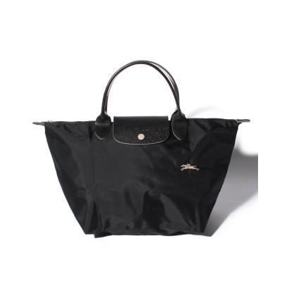 【ロンシャン】 Le Pliage Club Sac Porte Main M レディース ブラック F Longchamp