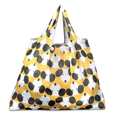 折りたたみ買い物袋 防水素材犬・黄色