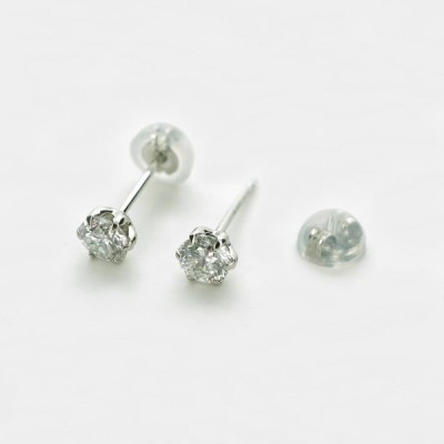 Pt900プラチナ ダイヤモンド スタッドピアス 日本製